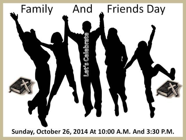 Church friends and family day invitation invite a friend family